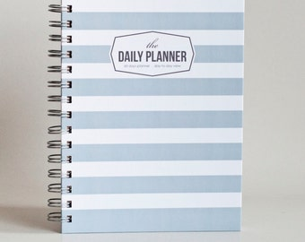 Daily Planner - Grey Stripes (60 days undated planner)