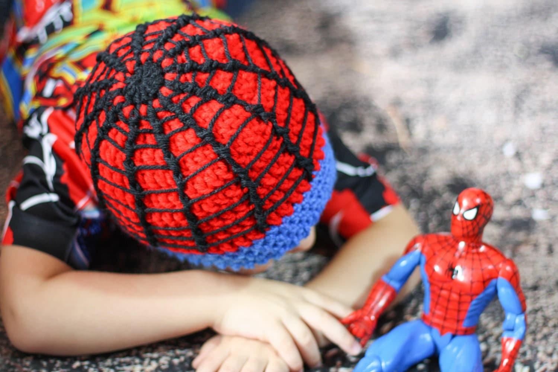 Crochet Spiderman Beanie Spider Super Hero Hat Spidey Hat