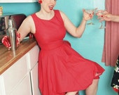 Rockabilly style Pinup Dress with full circle skirt