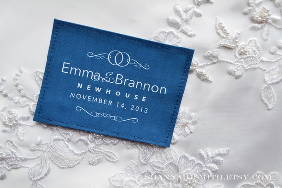 Personalized Something Blue Label • Wedding Dress Label • Unique Bridal Shower Gift • Something Old, New, Borrowed, Blue