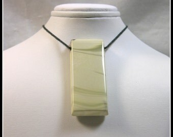 Cream Colored Rectangle Focal Bead Made From Willow Creek Jasper