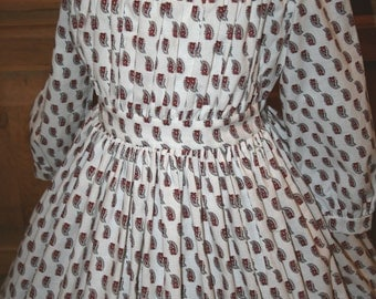 Childs Mid-19th Century Civil War Era Dress/ Reenacting/ CUSTOM MADE