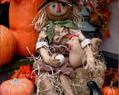 Primitive Scarecrow Doll for Fall