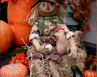 Primitive Scarecrow Scare Crow Doll for Fall - MADE TO ORDER