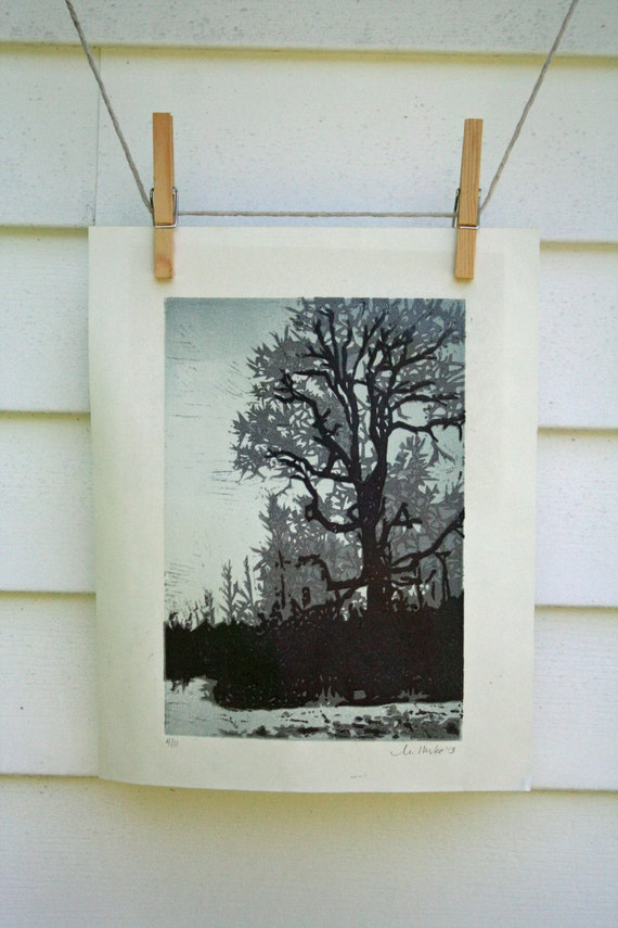 Winter Tree -Hand Pulled, Limited Edition