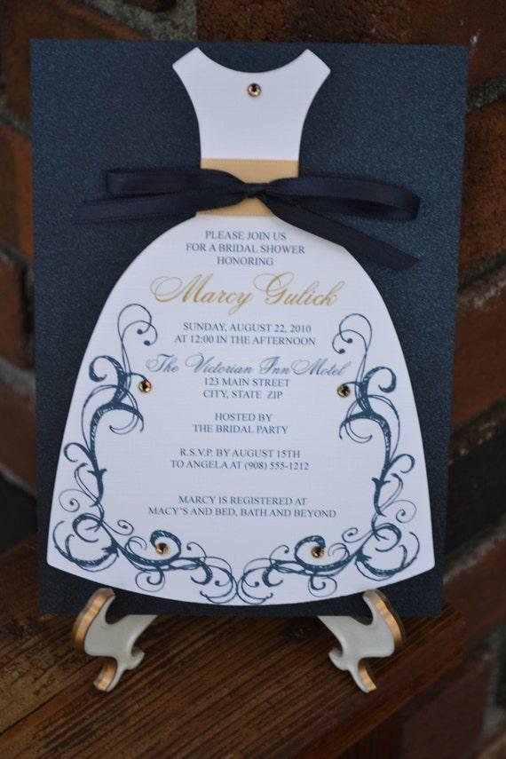 Elegant Scroll Bridal Shower Dress