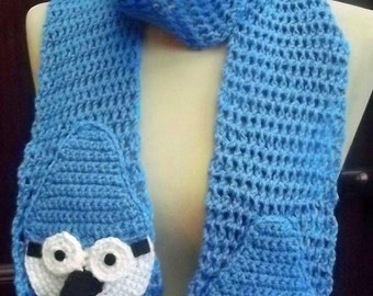 Crochet Mordecai Scarf from the Regular Show - Made to Order
