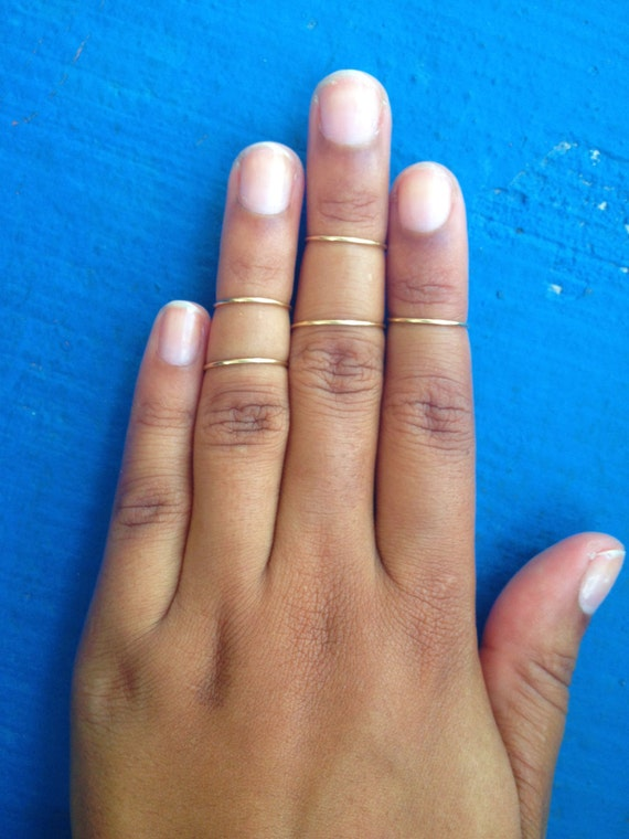 Items similar to Simple Gold Midi Ring on Etsy