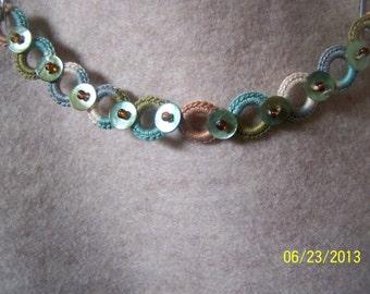 Cotton Thread & button bead bracelet