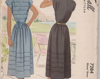 Bust 32-1943 Misses' Dress McCall 7284 Sz 14