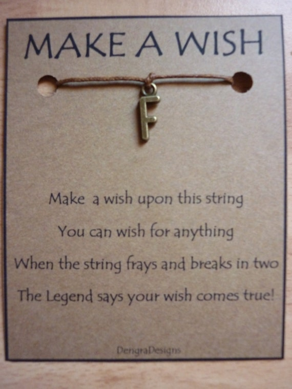 Letter F Wish String