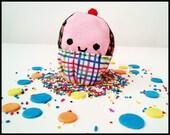 Cupcake Plush - Happy Cuppy Cake - Cute Sweet Playfood
