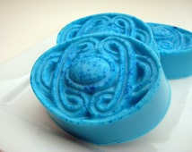 Bay Rum Soap for Women, Blue Soap, Caribbean Soap, Celtic Knot Oval Soap, Hoooked Soap, Homemade Soap, Bar Soap