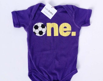 Soccer First Birthday ONE Bodysuit - Other Colors Available