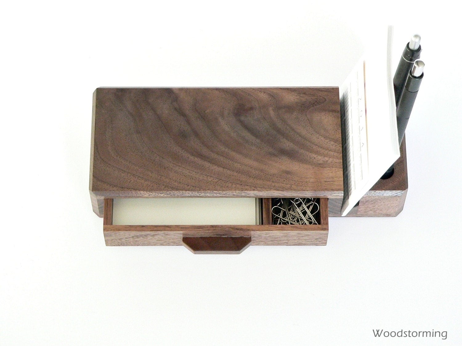 Home office organizer wooden desk organizer with by - Wood desk organizer ...
