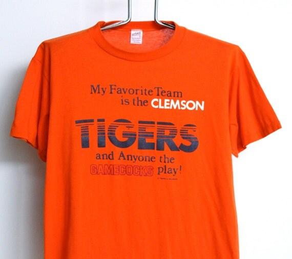 Sale Vintage Clemson University T Shirt Mens Large Unisex