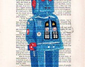 Prints Mixed Media Posters Illustration Giclee Portrait Drawing Art Acrylic Painting Holiday Decor Gifts: Robot - 7