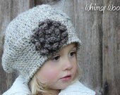 Beret CROCHET HAT PATTERN: 'Sofia Belle Beret with Crochet Flower', Winter Fashion