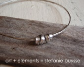 "Handmade ""Silver Wrap"" Bangle - PMC - Sterling Silver - Bracelet - Charms"
