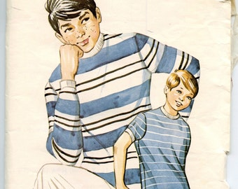 Kwik Sew 308 Vintage Sewing Pattern Boys T Shirt Ages 8-10-12-14 Chest 26.5-31.5