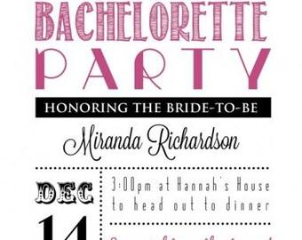 Chevron Bachelorette Party Invitations