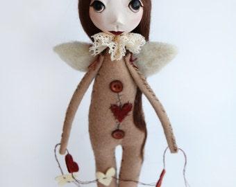 Christmas Angel - Primitive Angel - Folk Art Angel - Made To Order