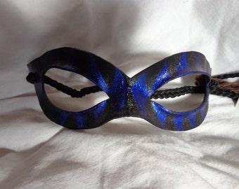 Leather Mask Commedia Harlequin Domino