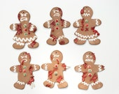 Zombie Gingerbread Cookie Christmas Ornament Collection