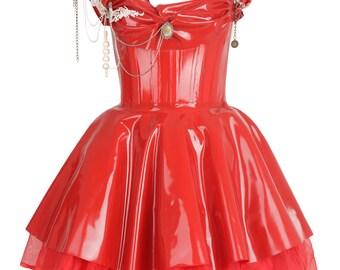 EMPRESS Latex  Corset Dress