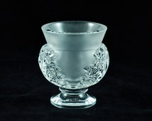 Vintage Lalique 'Saint Cloud' Pedestal Form Vase