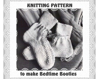 Easy Bed Socks Knitting Pattern 2 Needles : Bed socks pattern Etsy