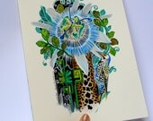 "Original watercolour painting. ""Wild Garden"""