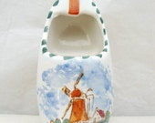 Delft Hand Painted Dutch Clog Ashtray, Dutch Shoe Ashtray,