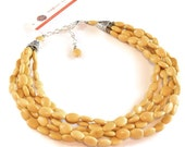 Chunky Dijon Mustard Yellow Bridal Jewelry - Yellow Turquoise Statement Necklace - Mustard Yellow Bridesmaid