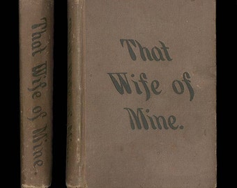 That Wife of Mine, Victorian Era Domestic Novel by Mary A. Denison The First Edition, Published by Lee and Shepard in 1877