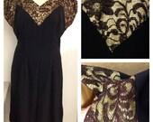 Gorgeous Rare Vintage Plus Size Mid Century Mad Men Cocktail Wiggle Dress Size 14