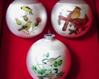 Bird Christmas Ornaments Collection by Corning with Original Box 1976 FREE SHIPPIING - order 3 or more Christmas  listings