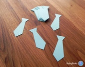 Die Cut Blue Ties (25+) - photo prop party decoration punch cutout card stock