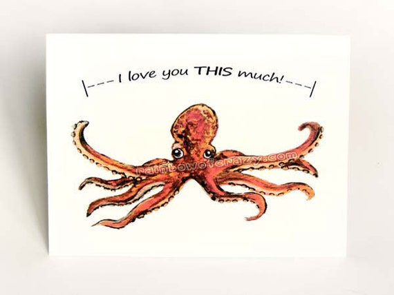Octopus Card I Love You This Much Cute Valentine by ...