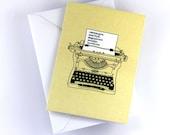 Ron Swanson Typewriter Card, Parks & Recreation