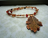 Page One - Copper Leaf Necklace - Doctor Who Inspired Necklace