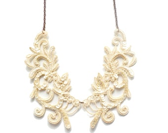 Ivory Lace Necklace Bib