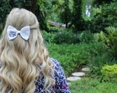 Bow Tie Style Monogram Solid Color Hair Bow