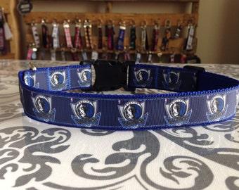 Dog Collar Made from Dallas Mavericks Inspired Ribbon