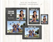 Memory Mate Templates, Sports Template, PSD Photoshop Template (SM215) INSTANT DOWNLOAD