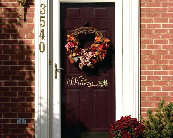 Welcome Decor - Small Decal - Front Door  Decal - Wall Decal