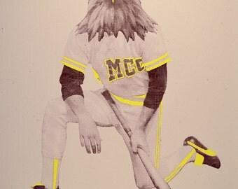 MCC McDavie - Eagle Baseball Player Limited Edition Screenprint