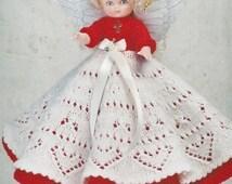 PDF Pattern. Knit Angel Doll Pattern - Jane Anne #1 In Millennium JAO Series - Knitting Bed Doll Pattern - Full Lace Skirt. GR8 Gift Idea