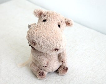 PATTERN Download to create Teddy like Hippo 6 inches