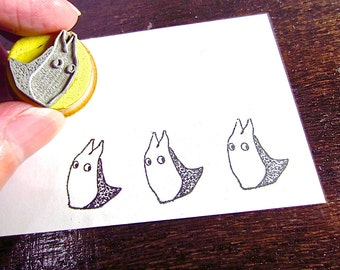 Chibi Totoro Inspired Stamps little rubber stamp halloween stamp O010